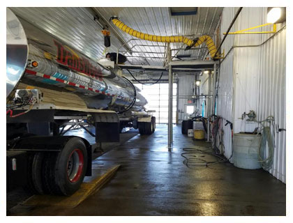 tanker washout at JC Truck and Tanker Washouts